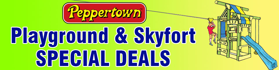 Peppertown Fort & Play Gym Specials