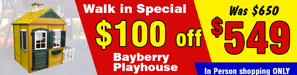 Peppertown Walk in Special Bayberry Playhouse alt=